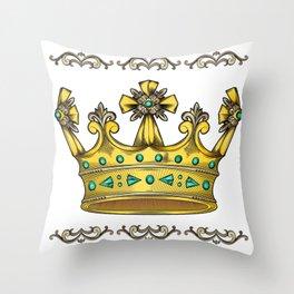 Royal Crown Throw Pillow