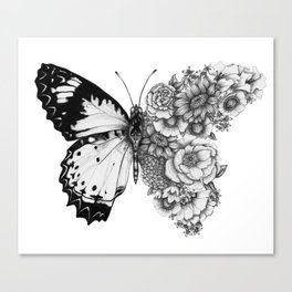 Butterfly in Bloom Canvas Print