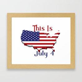 July 4 1776 America Framed Art Print