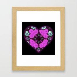 Mandala Flower Love Heart Framed Art Print