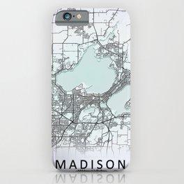 Madison, WI, USA, White, City, Map iPhone Case