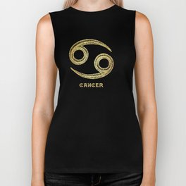 Cancer Zodiac Sign Biker Tank
