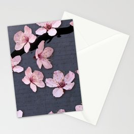 Triangluated Blossoms Stationery Cards