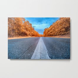 Infrared Road Metal Print