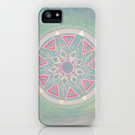 Mandala Clarity, Focus, Awareness iPhone Case