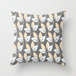 Classic leaves Throw Pillow