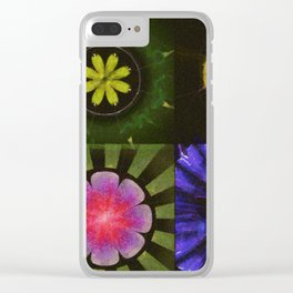 Brinish Symmetry Flowers  ID:16165-053020-45980 Clear iPhone Case