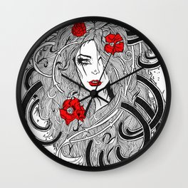 Rose. Wall Clock