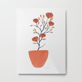 Potted Camellias Metal Print