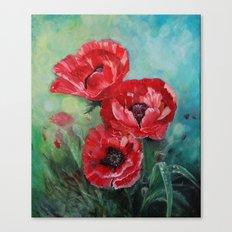 The Fairies Poppies Canvas Print