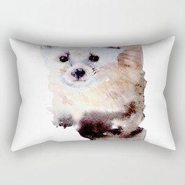 Watercolor Ailurus Painting Rectangular Pillow