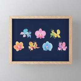 Orchid mantis - Dark Framed Mini Art Print