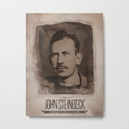 John Steinbeck Metal Print