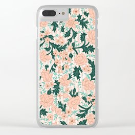 Rosabell Filigree- Mid Century Folk Florals Clear iPhone Case