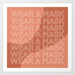 Wear a Mask Art Print