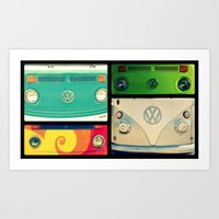 vw Art Prints featuring VW Collage by RDelean