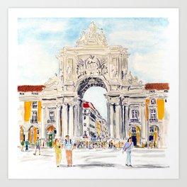 Praça do Comércio, Lisboa Art Print