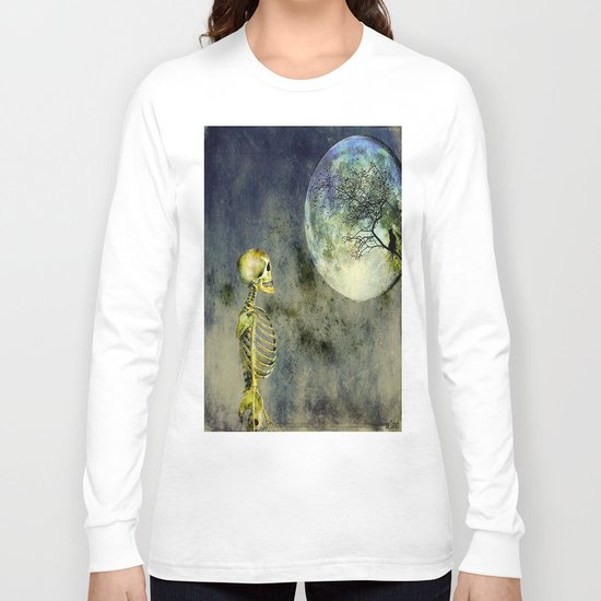 Skeleton in clear of the moon Long Sleeve T-shirt