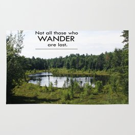 Not All Those Who Wander Are Lost Inspirational Quote Color Photo Rug