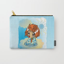 Cute ginger haired baby with a carrot Carry-All Pouch