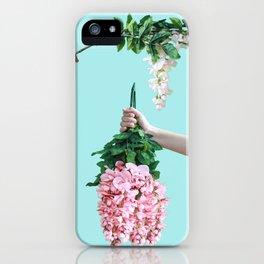 1992 Floral Episodes (Aqua) iPhone Case