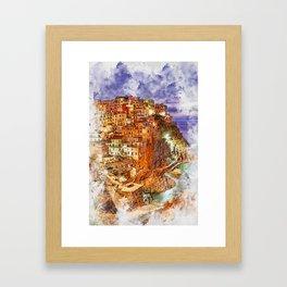 Italy, Cinque Terre Framed Art Print