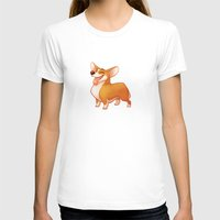 corgi T-shirts featuring Corgi by Chelsea Kenna