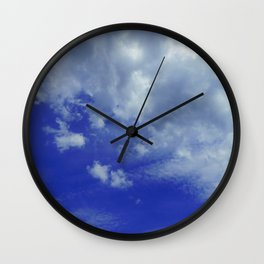 White Cotton Clouds   Wall Clock
