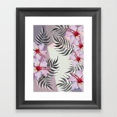 Ibiscus on Geometry Framed Art Print