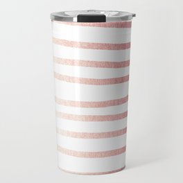 Simply Drawn Stripes Rose Gold Twilight Travel Mug
