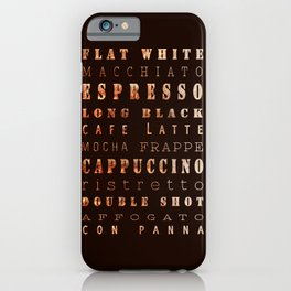 Coffee Types Poster iPhone Case