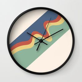 Retro Groovy Lines Wall Clock