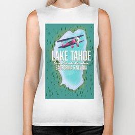 Lake Tahoe map Biker Tank