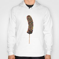 sprinkles Hoodies featuring Frozen Banana with Sprinkles by Sam Luotonen