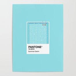 Pantone Series – Summer Swim Poster