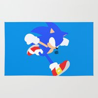 sonic Area & Throw Rugs featuring Sonic(Smash) by samaran