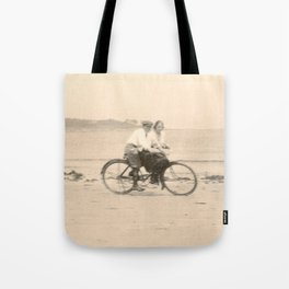 Love on a Bicycle Tote Bag