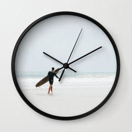 Contrasting Surfer Wall Clock