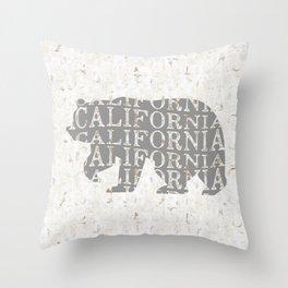 California Bear Print, California Bear Art, California Wall Art, California Art, California Print Throw Pillow
