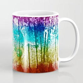 The Flower of Life & Metatron's Cube - The Rainbow Tribe Collection Coffee Mug