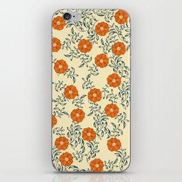 60s Floral iPhone Skin