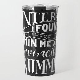 Albert Camus - In the Midst of Winter Travel Mug