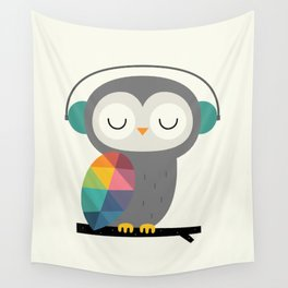 Owl Time Wall Tapestry