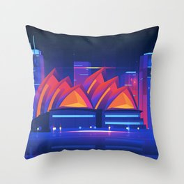 Synthwave Neon City #22: Sidney Throw Pillow