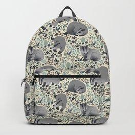 Badger pattern Backpack