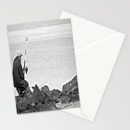 Fishing Alone Stationery Cards