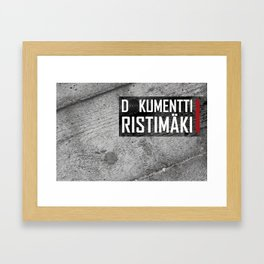 Dokumentti Ristimäki Black Framed Art Print