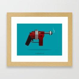 Dan Dare - Ray Gun (1950s Style) Framed Art Print