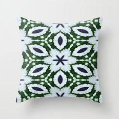 White African Daisy Kaleidoscope Print Throw Pillow