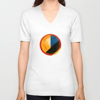 kandinsky V-neck T-shirts featuring BALANCE by THE USUAL DESIGNERS